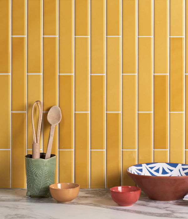 Ca' Pietra Dolly Giallo.  Edinburgh Tile Studio.