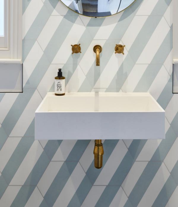 Ca' Pietra Neapolitan Aqua.  Edinburgh Tile Studio.
