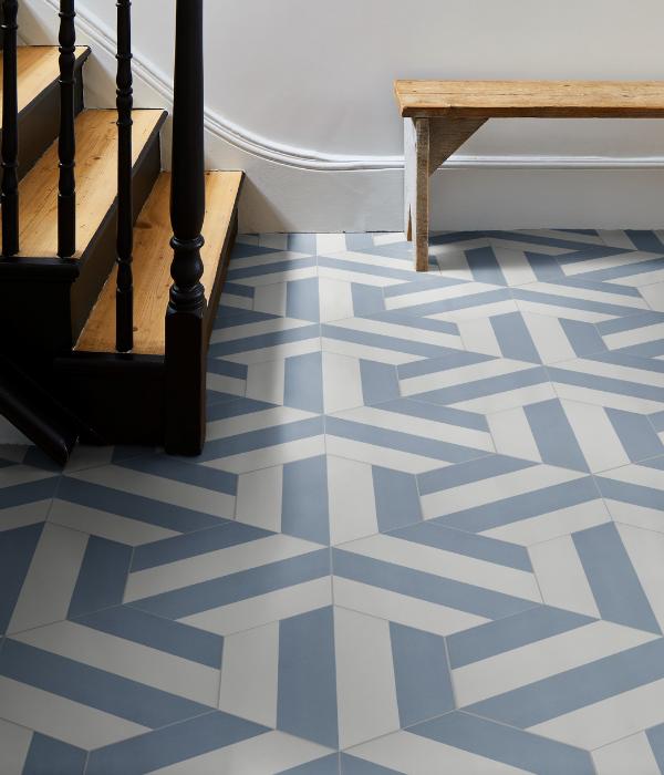 Ca' Pietra Neapolitan Blue.  Edinburgh Tile Studio.