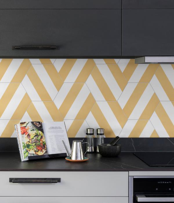 Ca' Pietra Neapolitan Yellow.  Edinburgh Tile Studio.