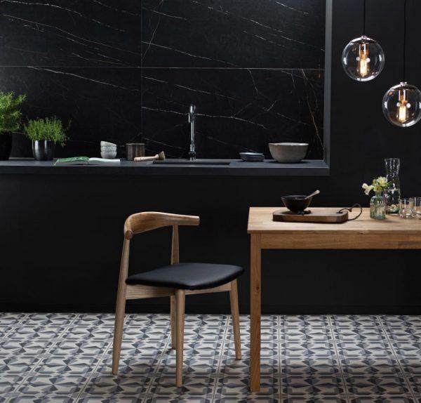 Original Style Tileworks, Stone Effect, Marmi Classico, Nero Venato Polished.