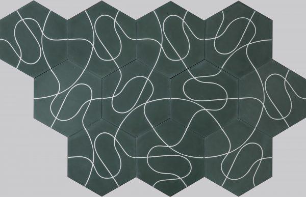 Marrakech Deisgn. Paths Forest Ivory.  Edinburgh Tile Studio.