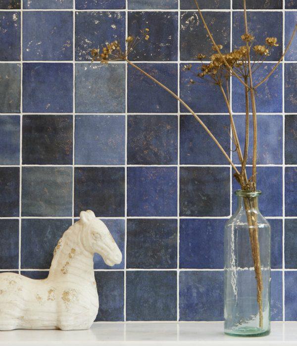 Ca' Pietra Bazaar Ceramic Colonial Blue. Edinburgh Tile Studio.