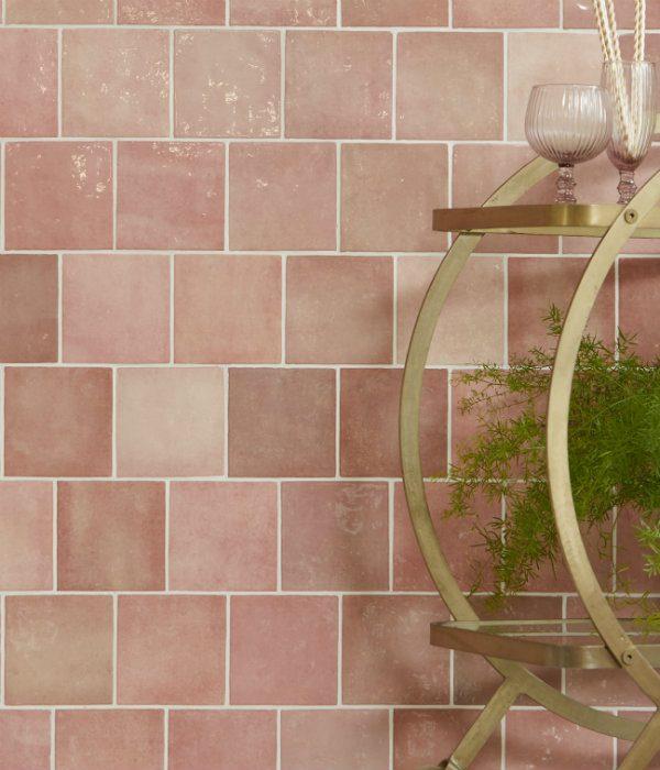 Ca' Pietra Bazaar Ceramic Rose Mallow. Edinburgh Tile Studio.