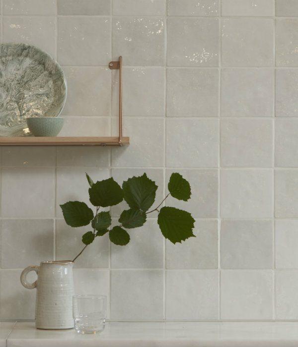 Ca' Pietra Bazaar Ceramic White. Edinburgh Tile Studio.
