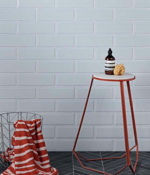 Ca' Pietra Camden Aqua Ceramic Brick. Edinburgh Tile Studio.