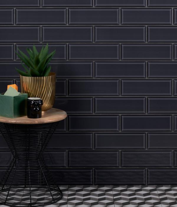 Ca' Pietra Camden Liquorice Ceramic Brick. Edinburgh Tile Studio.