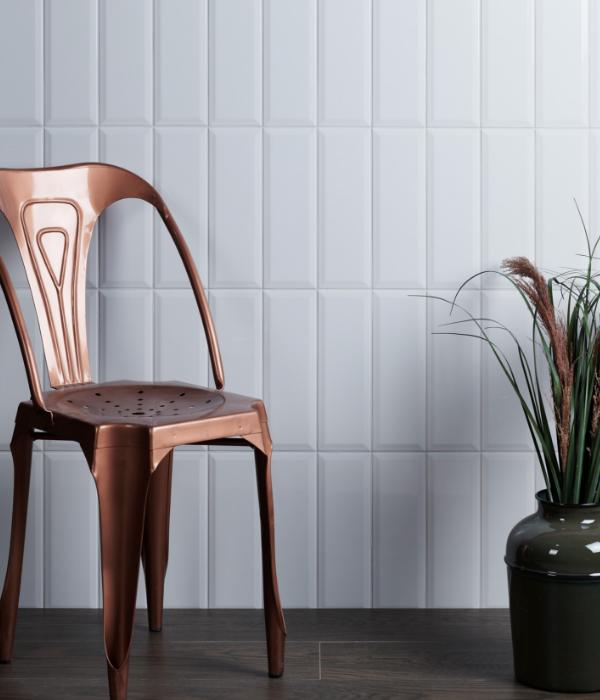 Ca' Pietra Camden White Ceramic Brick. Edinburgh Tile Studio.