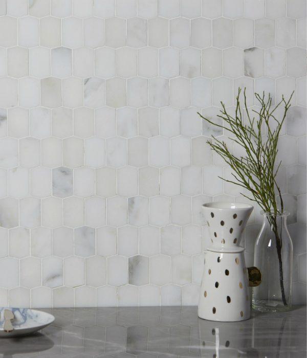Ca' Pietra Palazzo Picket Marble Honed. Edinburgh Tile Studio.
