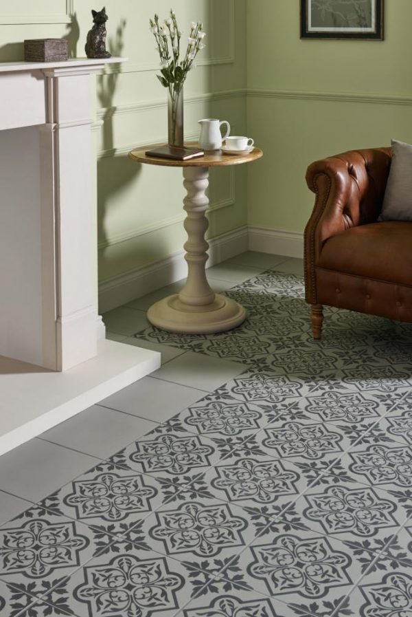 Original Style Odyssey. Grande Pentillie Grey on Grey. Edinburgh Tile Studio.