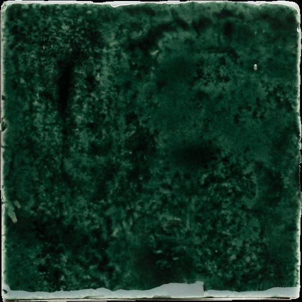 New Terracotta Metallic Green Oxide Explosion Colour, Edinburgh Tile Studio