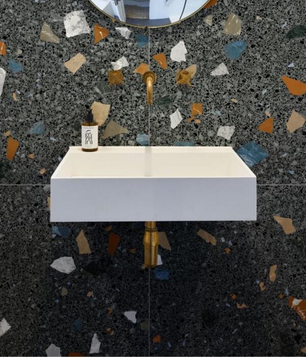 Ca' Pietra Piazza Geo Graphite Porcelain. Edinburgh Tile Studio.