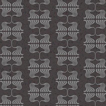Mutina Cover Nouveau Black. Edinburgh Tile Studio