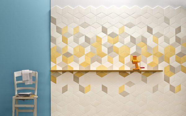 Mutina Tex Yellow, White and Cream. Edinburgh Tile Studio
