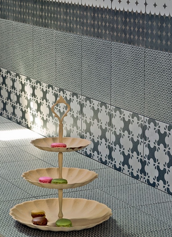 Mutina Azulej Nero Trevo, Renda and Estrela. Edinburgh Tile Studio