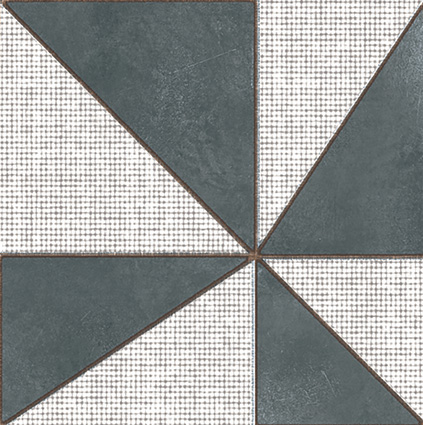 Mutina Azulej Nero Gira. Edinburgh Tile Studio