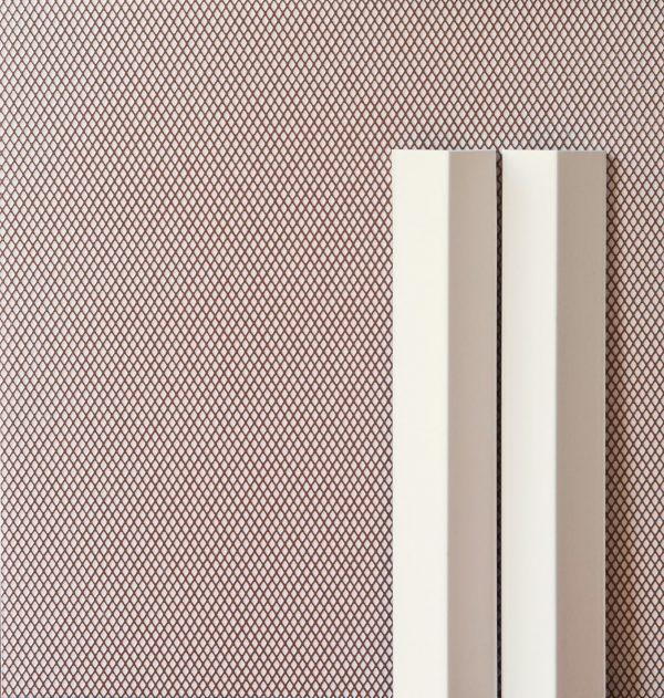 Mutina Rombini Carré Light Red and Triangle Large White. Edinburgh Tile Studio