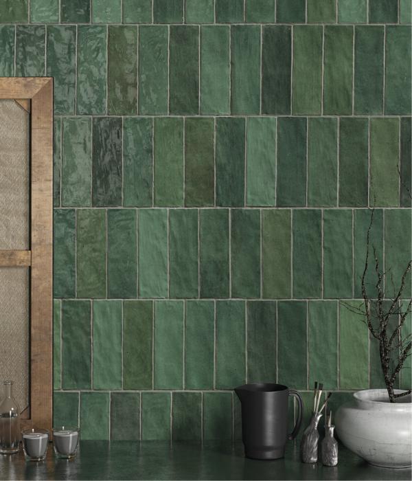 Ca' Pietra Oasis Green Ceramic. Edinburgh Tile Studio.