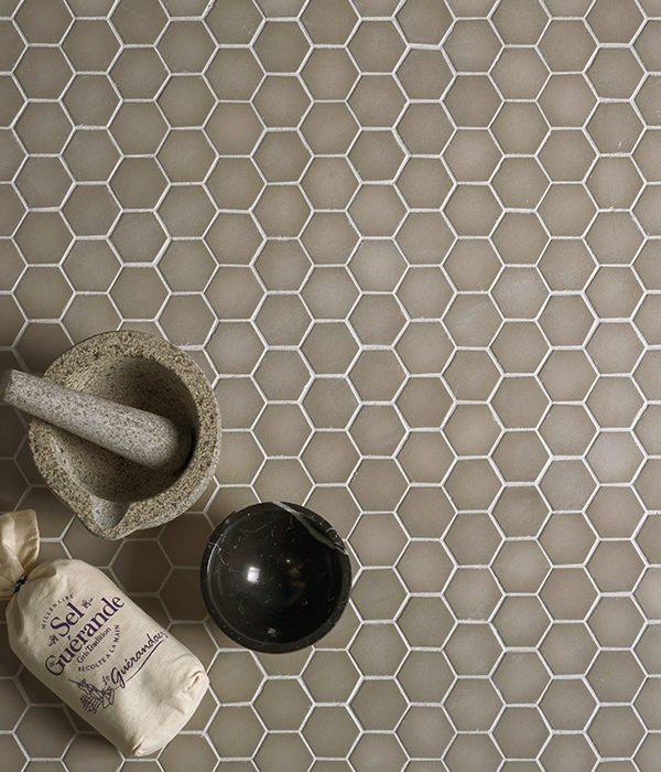 Ca' Pietra Brasserie Mosaic Sand. Edinburgh Tile Studio.