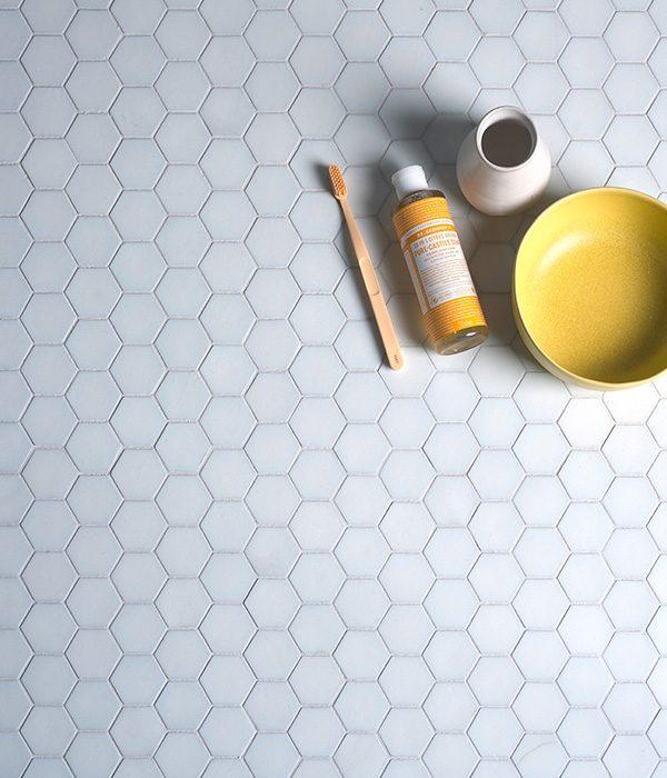 Ca' Pietra Brasserie Mosaic White. Edinburgh Tile Studio.