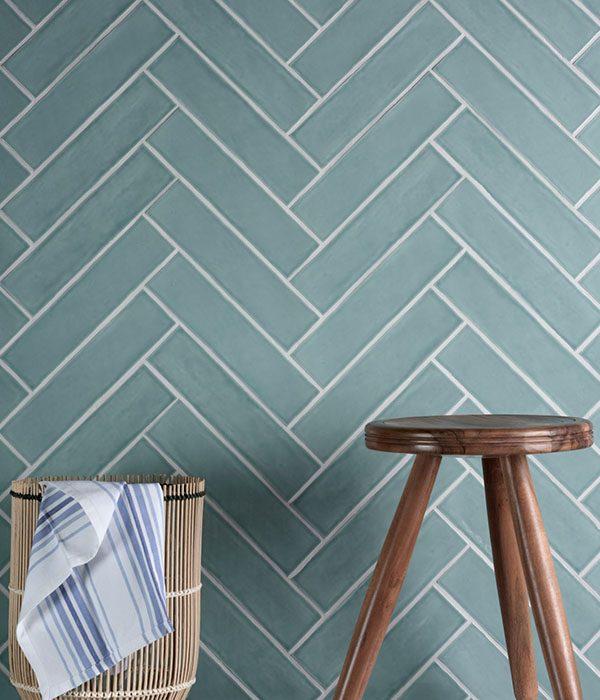Ca' Pietra Carter Ceramic Mint. Edinburgh Tile Studio.