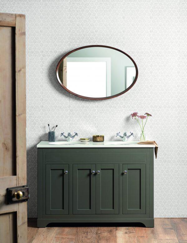 Original Style Living Artistry Frida Grey. Edinburgh Tile Studio.