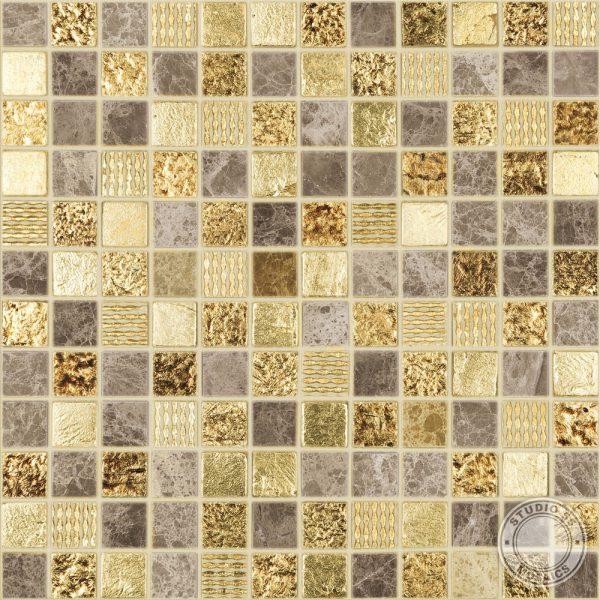 Studio 55 Arabian mosaic, swatch, Edinburgh Tile Studio