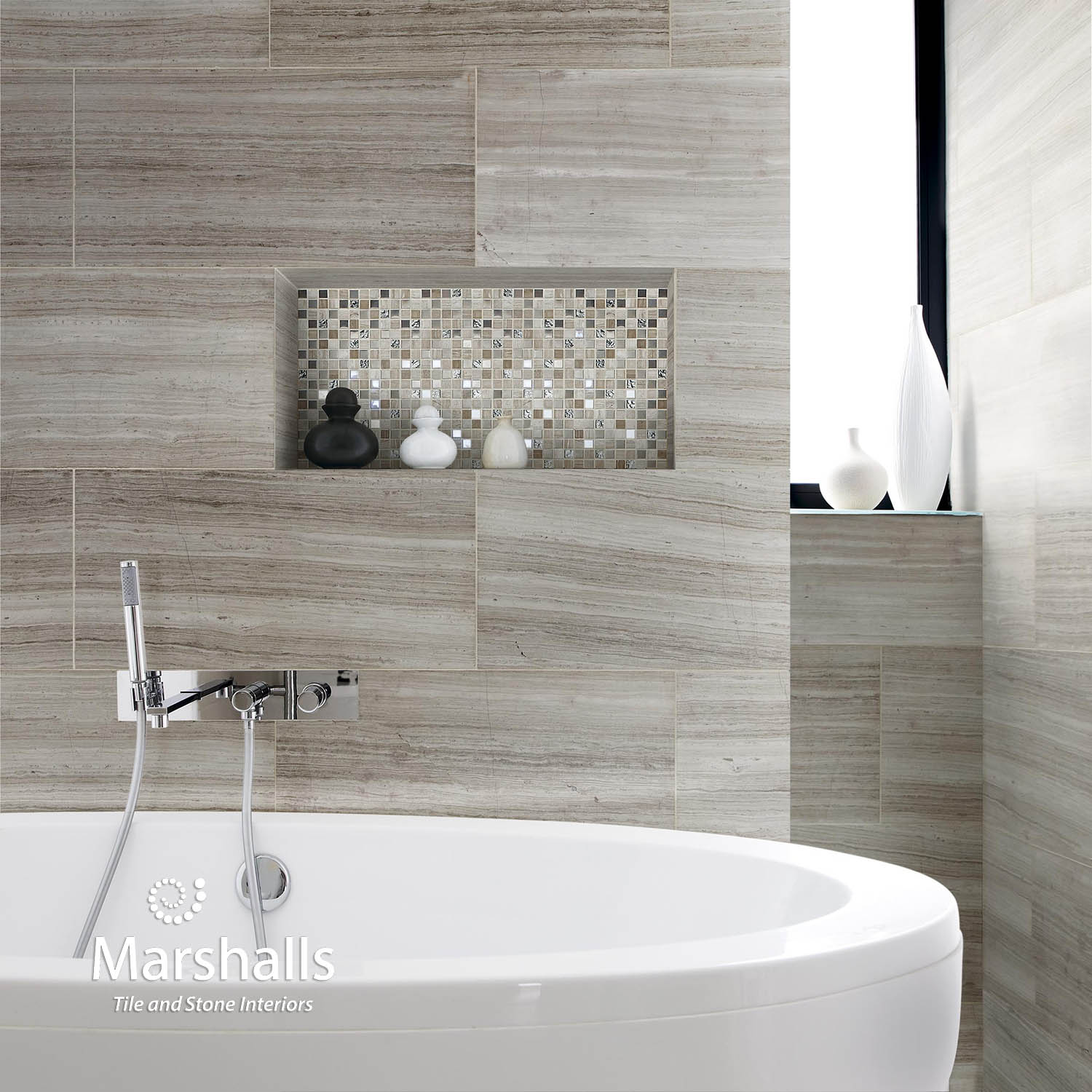 Wall Tile For Bathrooms: Marshalls Limestone, Ashdown Grey