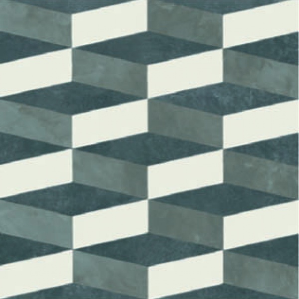 Azzulej_Cubo_Grey/Black, Edinburgh Tile Studio