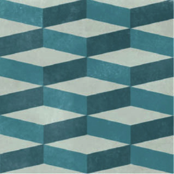 Azzulej_Cubo_GreyBlue, Edinburgh Tile Studio