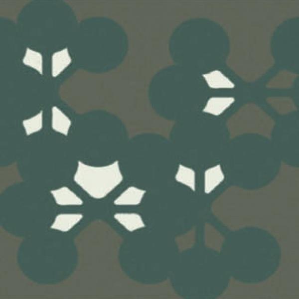 Azulej_Flores_Grey Tile, Edinburgh Tile Studio