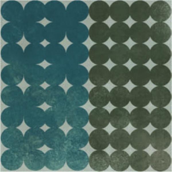 Azulej_Trevo_GreyBlue Tile, Edinburgh Tile Studio