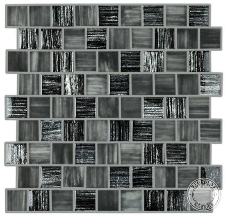 Studio 55 Boudoir Grafito Mosaic, swatch, Edinburgh Tile Studio