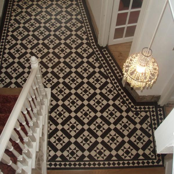 Olde English Carron Pattern, Edinburgh Tile Studio