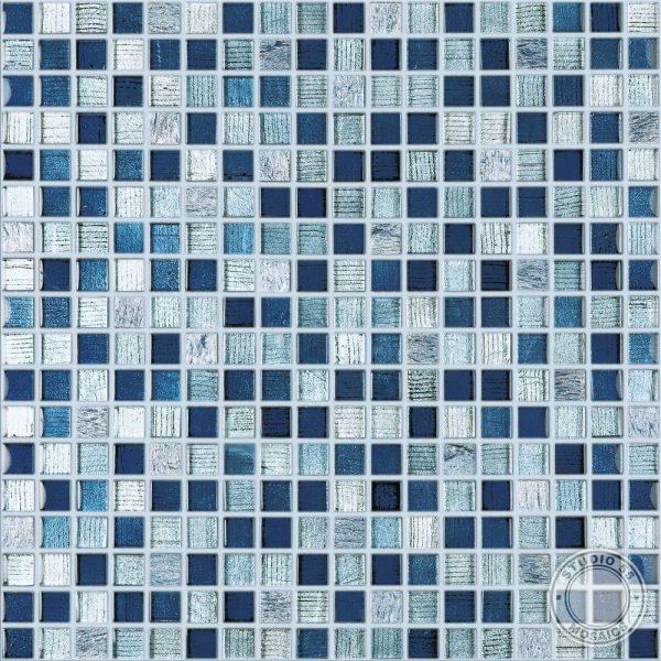 Studio 55 Circus Blue Mosaic, swatch, Edinburgh Tile Studio