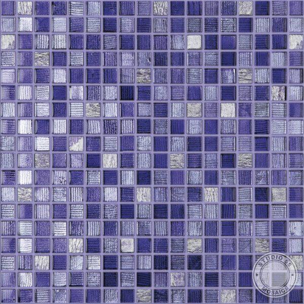 Studio 55 Circus Purple Mosaic, swatch, Edinburgh Tile Studio