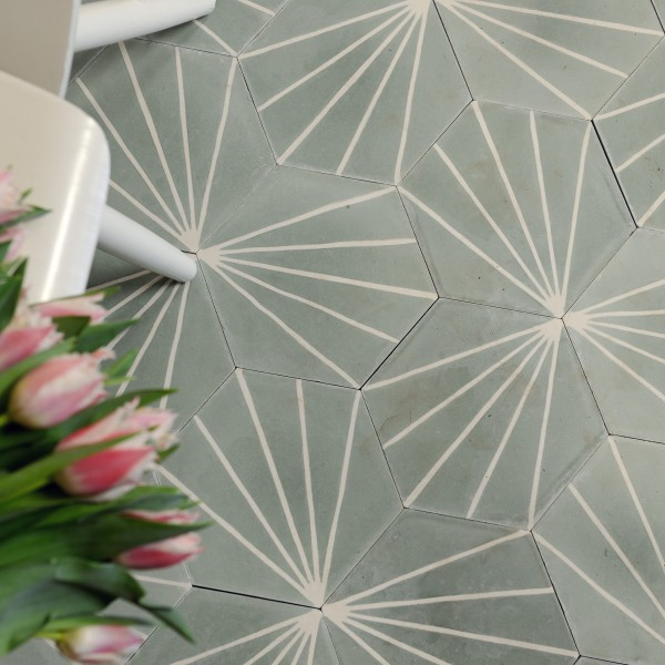 Marrakech Design Claesson Koivisto, Dandelion Encaustic, Edinburgh Tile Studio
