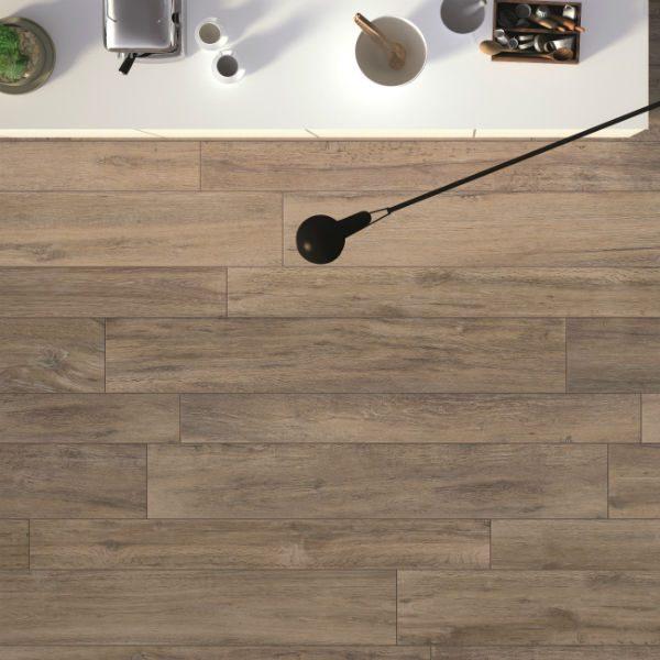 Ca' Pietra Drove Chesil wood effect room shot, Edinburgh Tile Studio