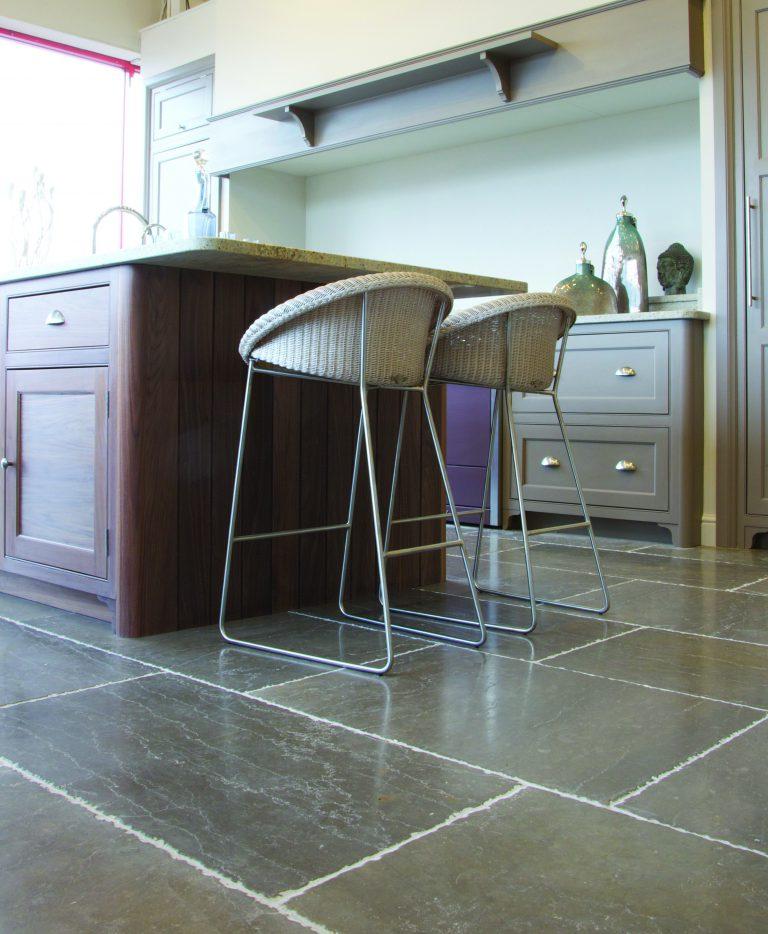 Ca' Pietra Hazlebury Limestone, tumbled, floor tile, Edinburgh Tile Studio