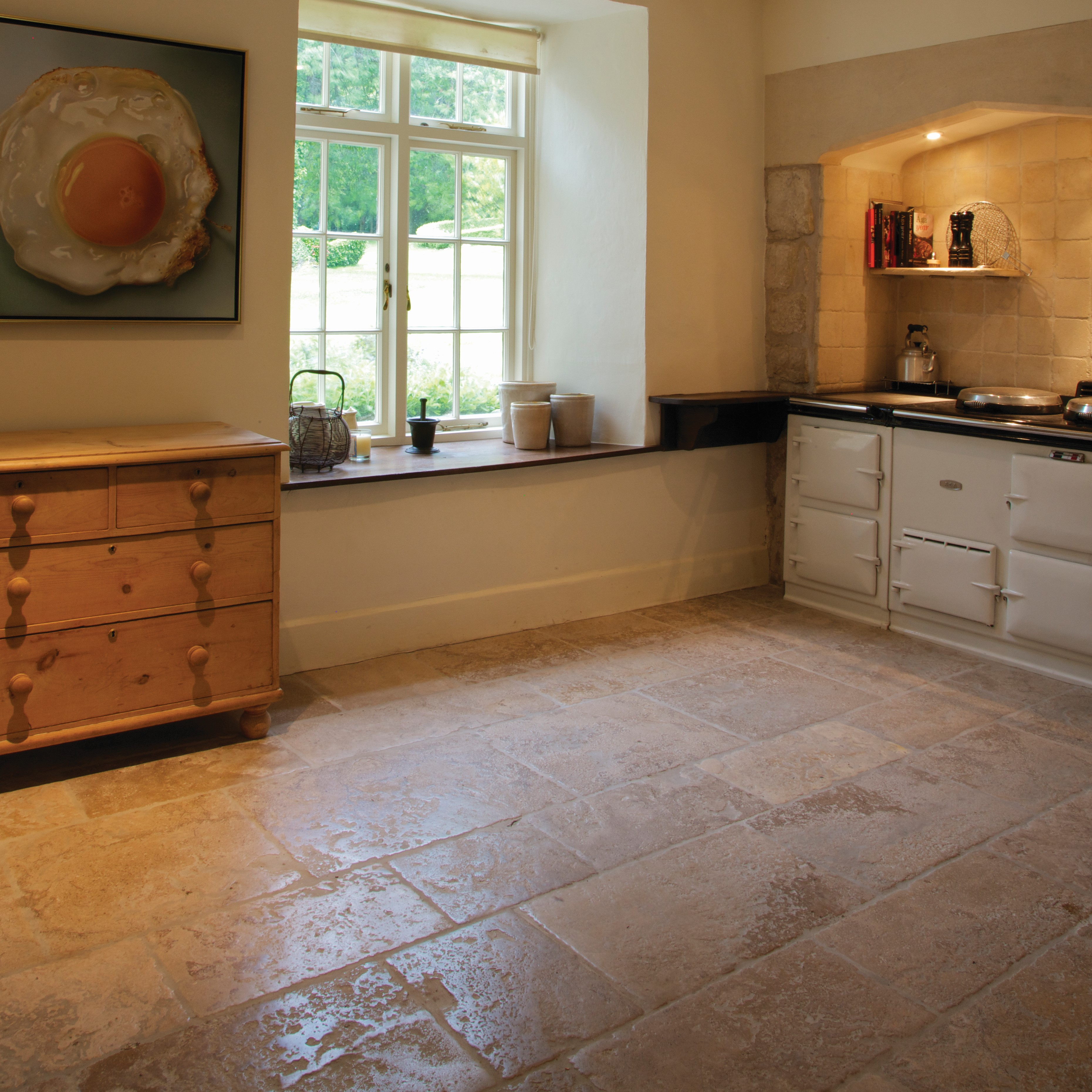 Kitchen Tiles Edinburgh: Ca' Pietra Limestone, Medieval Bourgogne (weathered)
