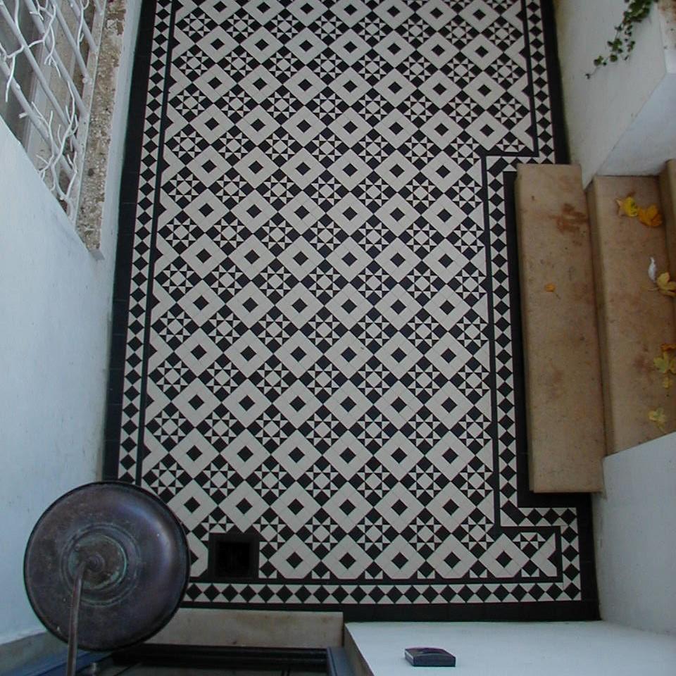 Olde English Victorian Floor Monteith Pattern Edinburgh Tile Studio