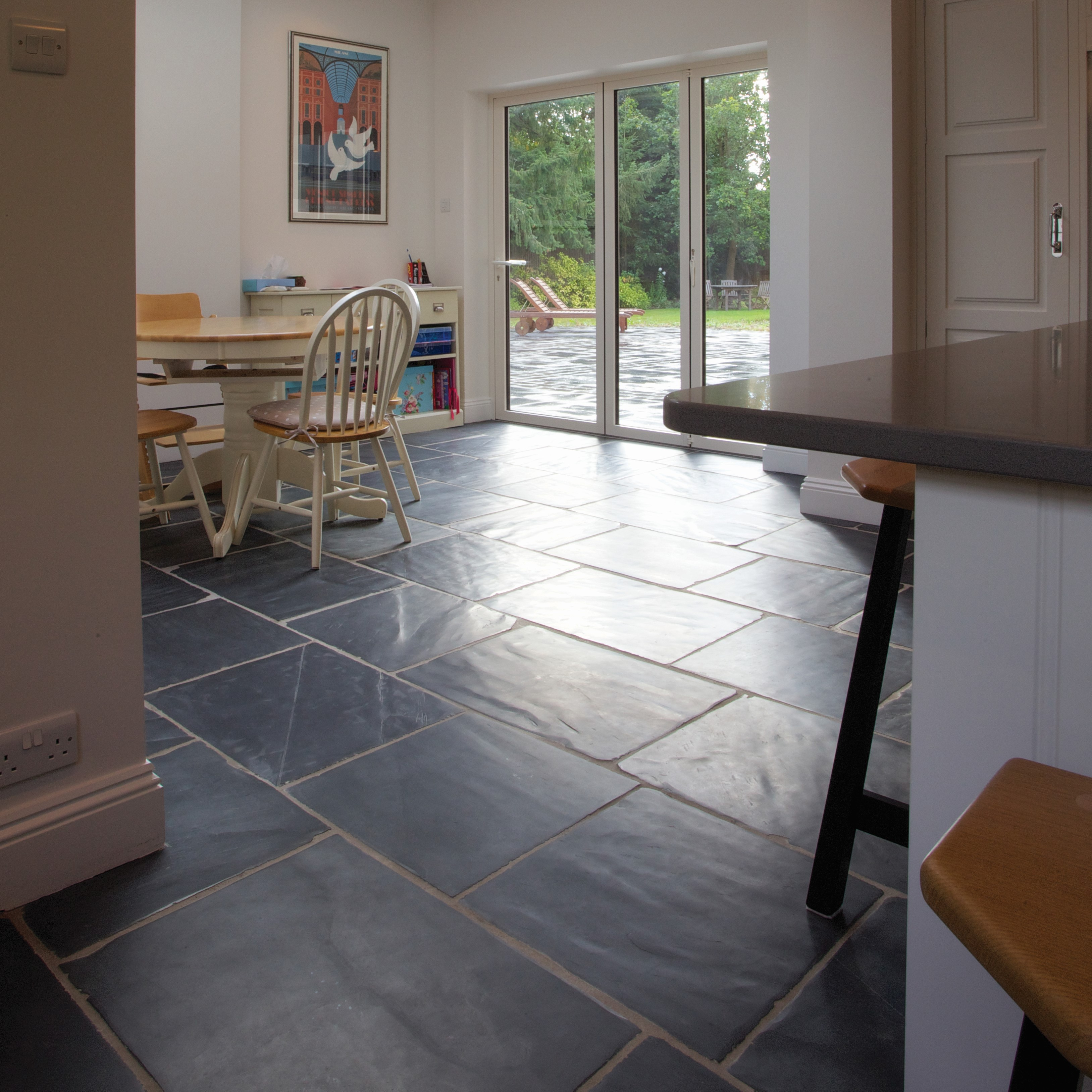Kitchen Tiles Edinburgh: Ca' Pietra Flagstones, Shepton (worn)