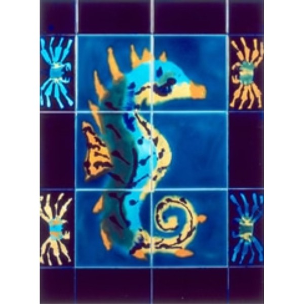 Jaafar Seahorse Panel, Edinburgh Tile Studio