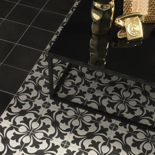 Ca' Pietra Ashley Encaustic.  Who needs a gold 'phone when you've an encaustic rug?  Edinburgh Tile Studio.