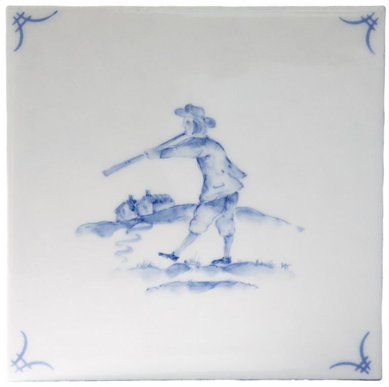 Marlborough Classic Figure Delft Tile 1, Edinburgh Tile Studio