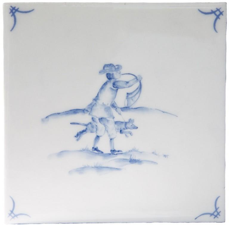 Marlborough Classic Figures Delft Tile 2, Edinburgh Tile Studio
