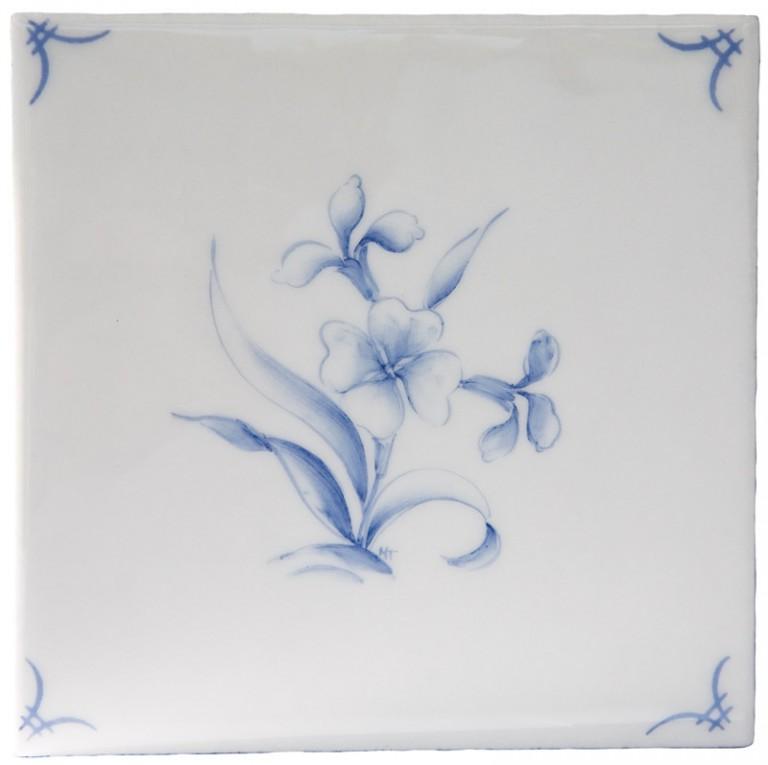 Marlborough Classic Flowers Delft Tile 1, Edinburgh Tile Studio