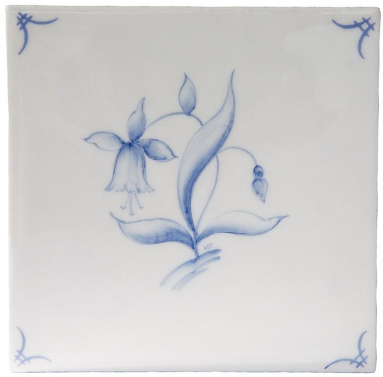 Marlborough Classic Flowers Delft Tile 2, Edinburgh Tile Studio