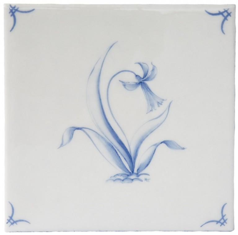 Marlborough Classic Flowers Delft Tile 3, Edinburgh Tile Studio