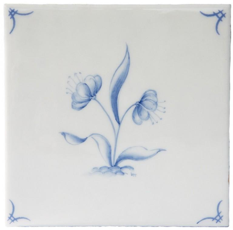 Marlborough Classic Flowers Delft Tile 4, Edinburgh Tile Studio